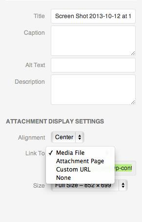A breakdown of the WordPress image settings